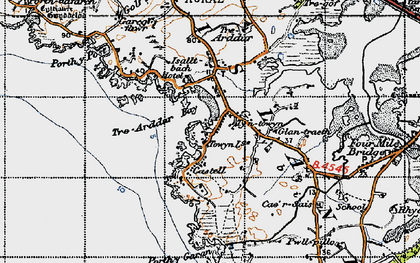 Old map of Bagnol in 1947