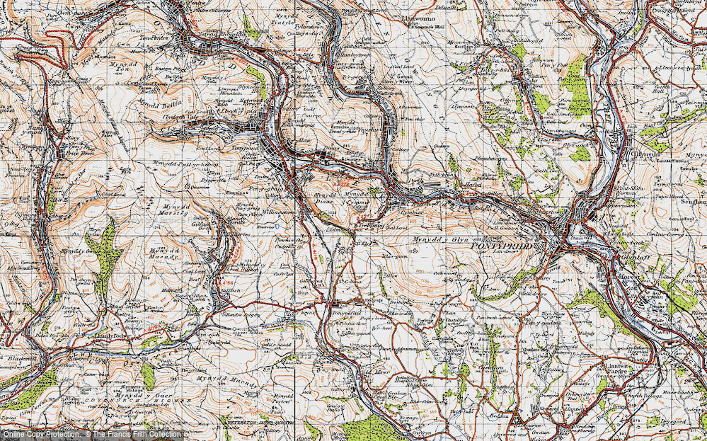 Old Map of Trebanog, 1947 in 1947