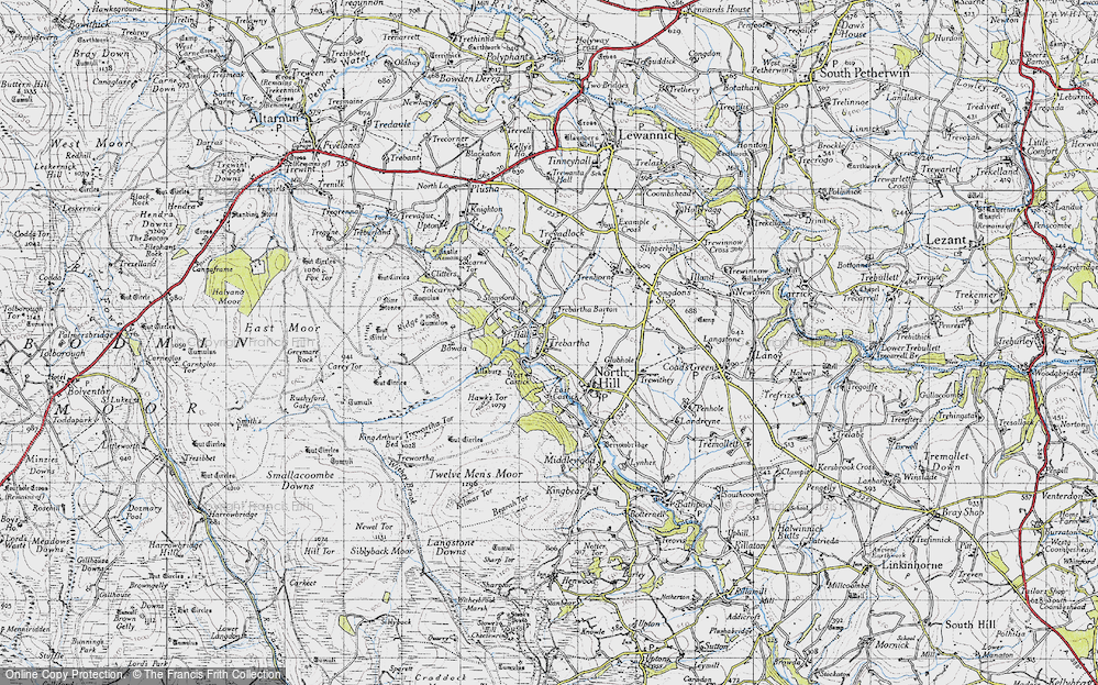 Old Map of Historic Map covering Allabury in 1946