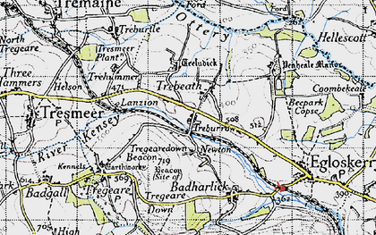 Old map of Trebeath in 1946