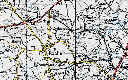 Old map of Trebilcock in 1946