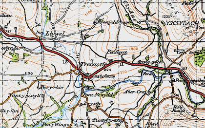 Old map of Ynys-Clydach in 1947