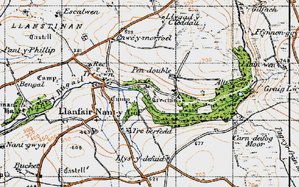 Old map of Allt yr Yn in 1946