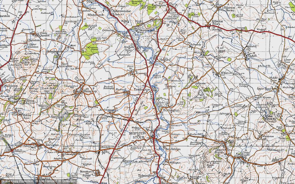 Old Map of Tredington, 1946 in 1946