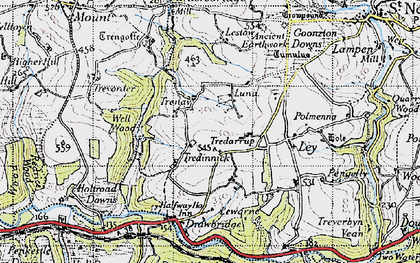 Old map of Tredinnick in 1946