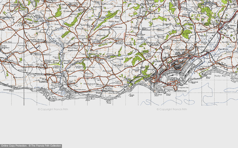 Old Map of Tredogan, 1947 in 1947