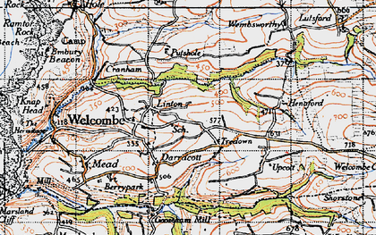Old map of Linton in 1946