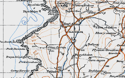 Old map of Ynys Melyn in 1947
