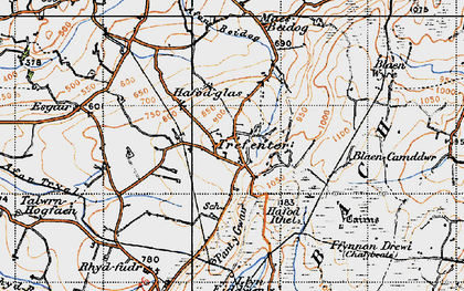 Old map of Afon Beidog in 1947