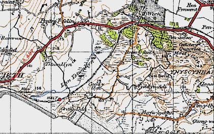 Old map of Treflys in 1947