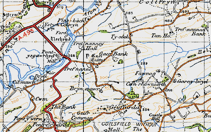 Old map of Y Gaer in 1947