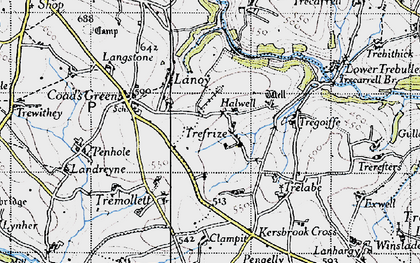 Old map of Trefrize in 1946