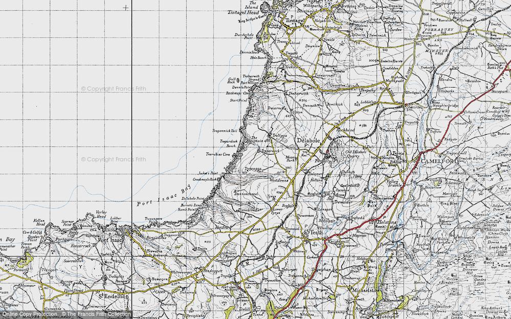 Old Map of Tregardock, 1946 in 1946