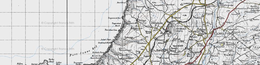 Old map of Tregardock in 1946