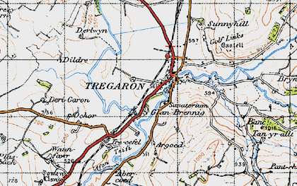 Old map of Abercoed in 1947