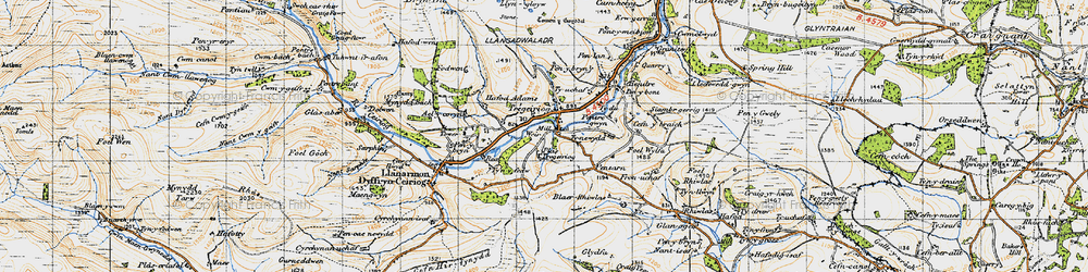 Old map of Ael-y-coryn in 1947
