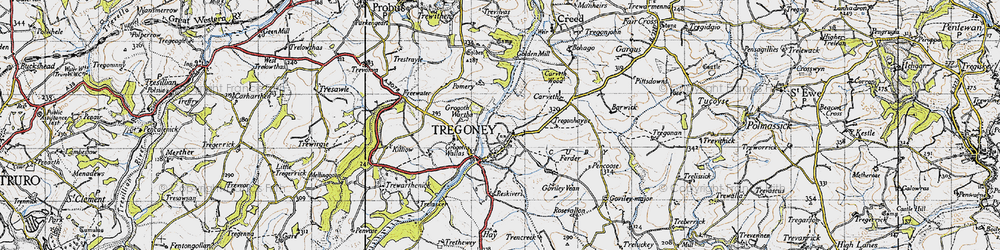 Old map of Golden in 1946