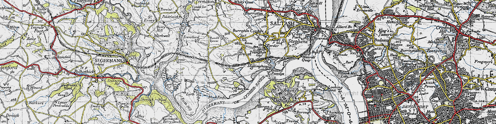 Old map of Wivelscombe in 1946