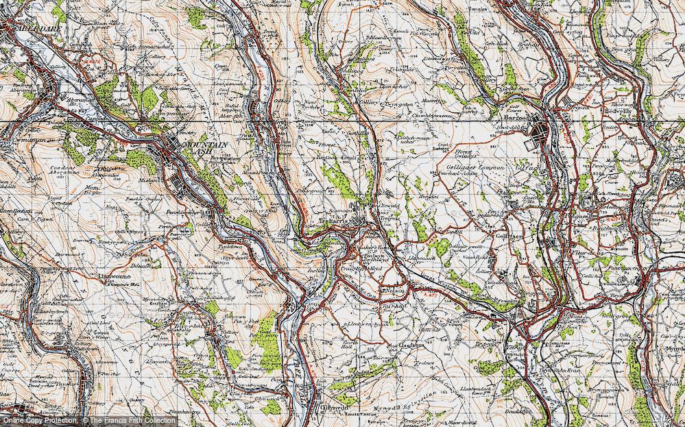 Old Map of Treharris, 1947 in 1947