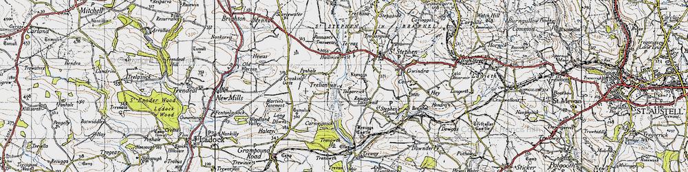 Old map of Tolgarrick in 1946
