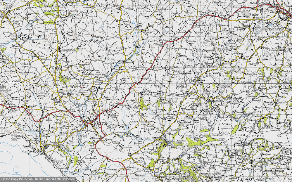 Old Map of Historic Map covering Tolvan in 1946