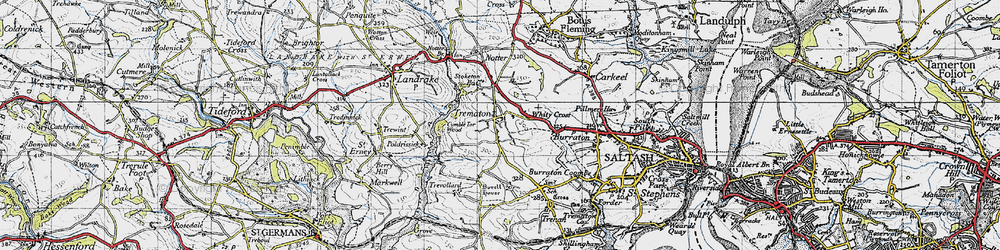 Old map of Whity Cross in 1946