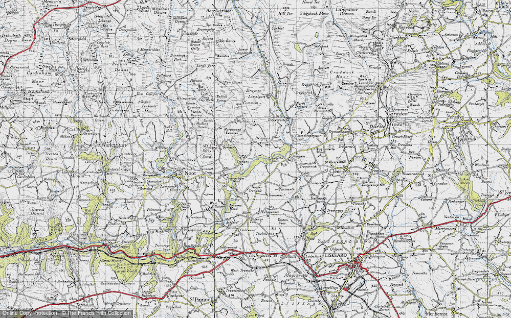 Old Map of Historic Map covering Whitebarrow Downs in 1946