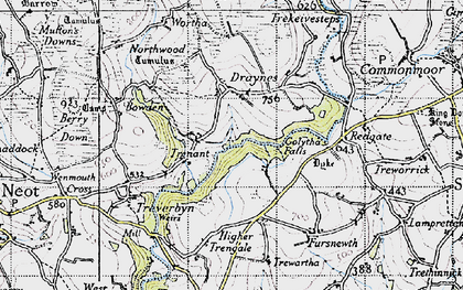 Old map of Whitebarrow Downs in 1946