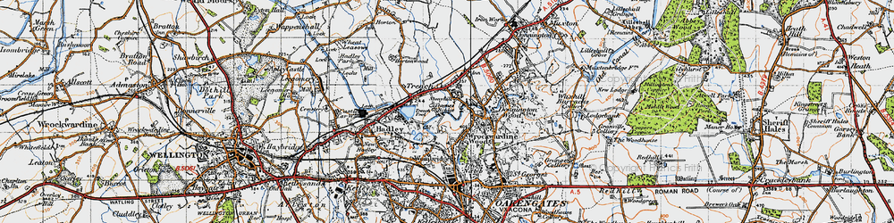 Old map of Trench in 1946