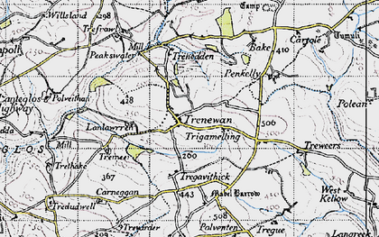 Old map of Bake Rings in 1946
