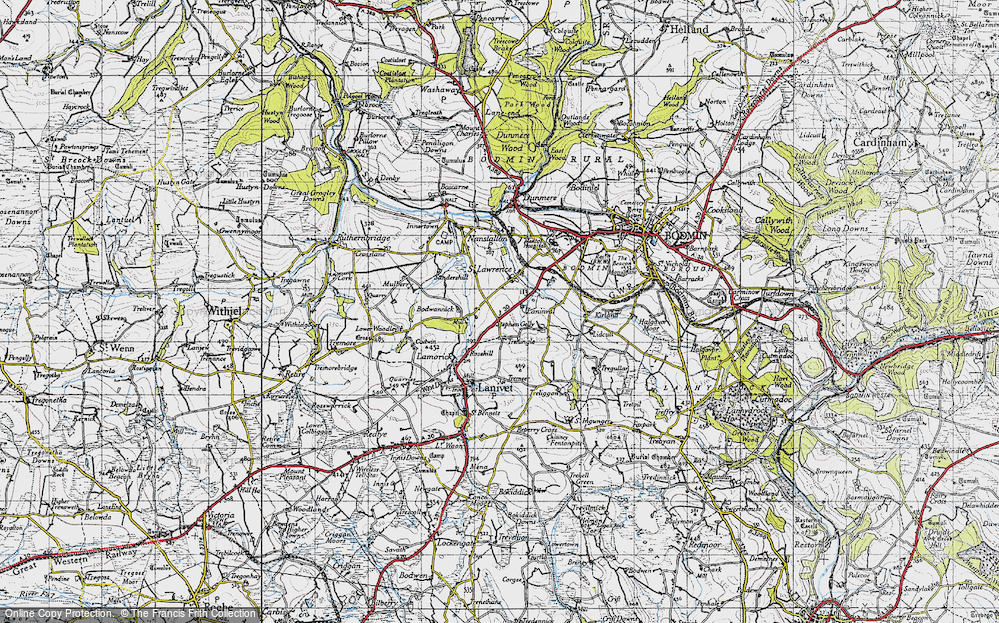 Old Map of Historic Map covering Laninval Ho in 1946