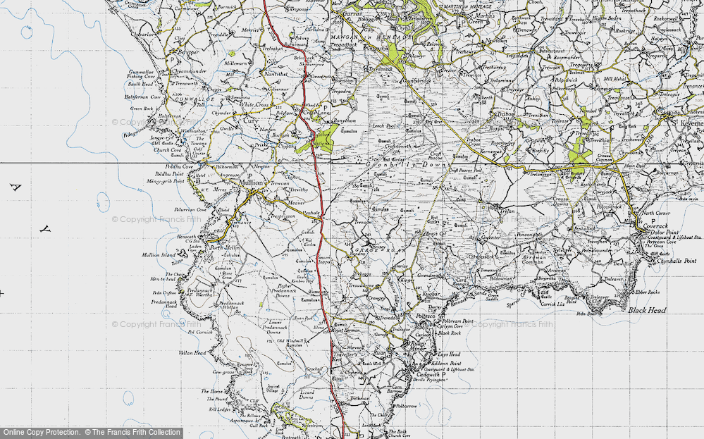 Old Map of Historic Map covering Leech Pool in 1946