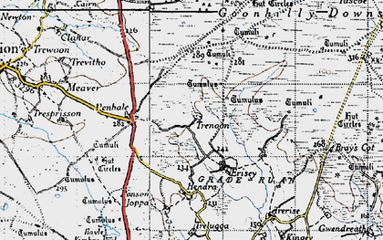 Old map of Leech Pool in 1946