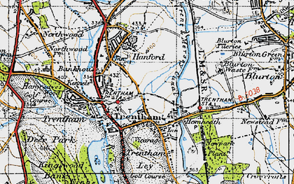 Old map of Trentham in 1946