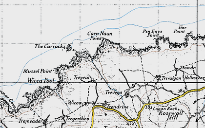 Old map of Wicca Pool in 1946