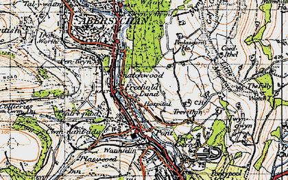 Old map of Lasgarn in 1947