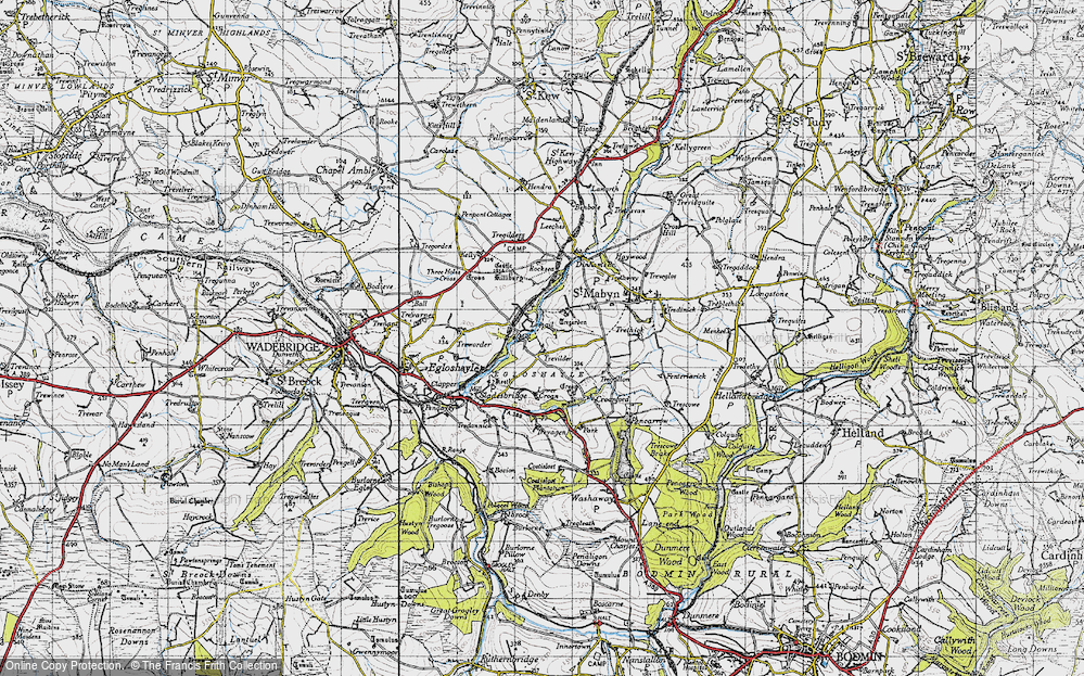 Old Map of Historic Map covering Lemail in 1946