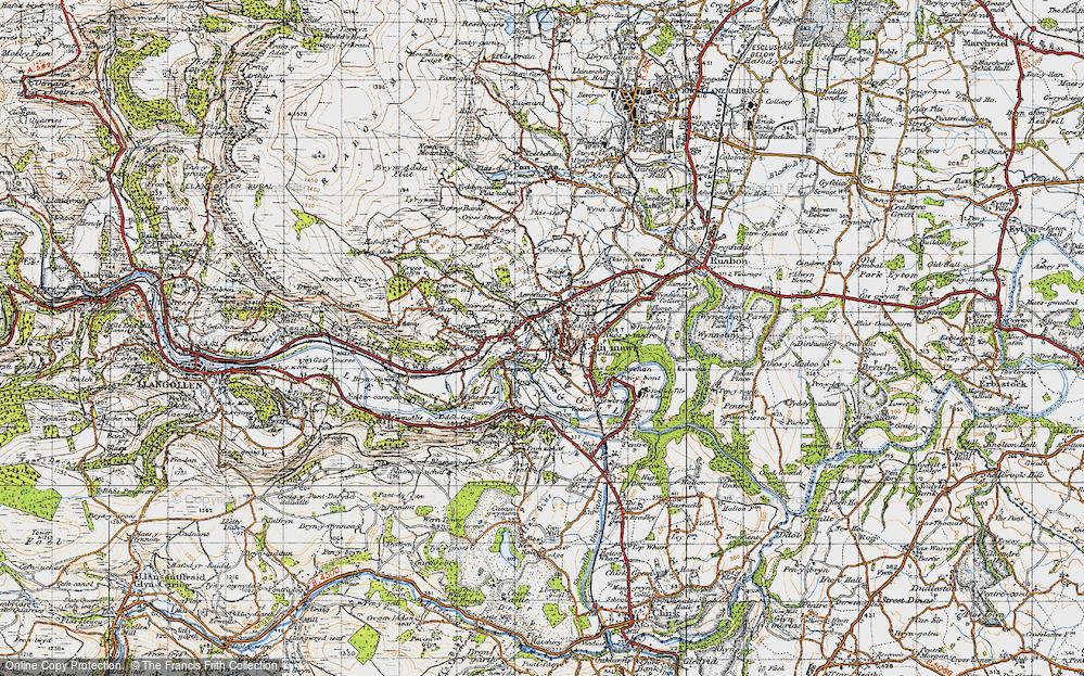 Old Map of Trevor, 1947 in 1947