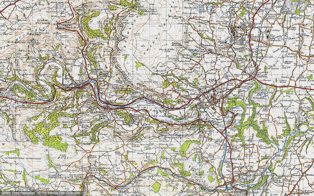 Old Map of Historic Map covering Abercregan in 1947