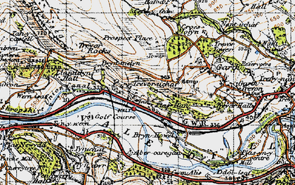 Old map of Abercregan in 1947