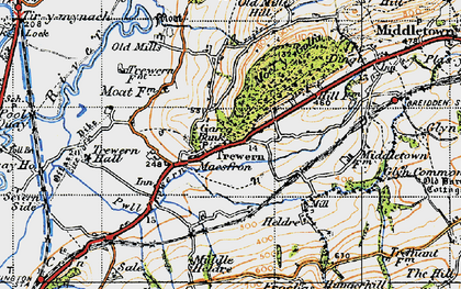 Old map of Yewtree Ho in 1947