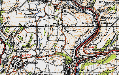 Old map of Ton-ty'r-bel in 1947