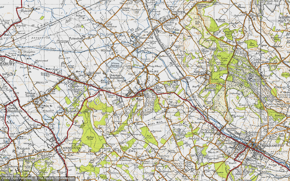 Old Map of Tring, 1946 in 1946