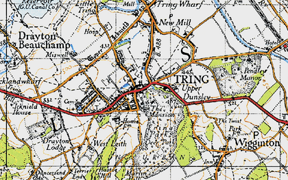 Old map of Tring in 1946