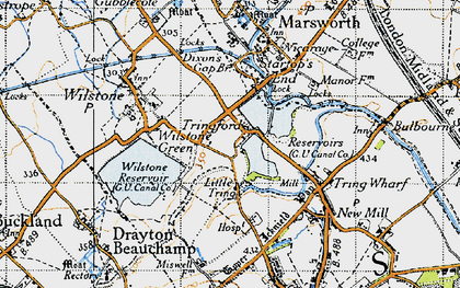 Old map of Tringford in 1946