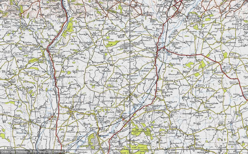 Old Map of Historic Map covering Bagmore in 1946