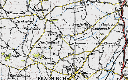 Old map of Bagmore in 1946