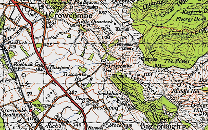 Old map of Wills Neck in 1946