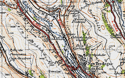 Old map of Troedrhiwfuwch in 1947