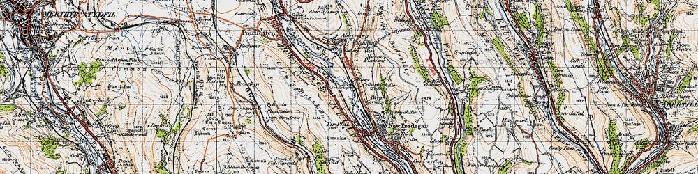 Old map of Y Darren in 1947